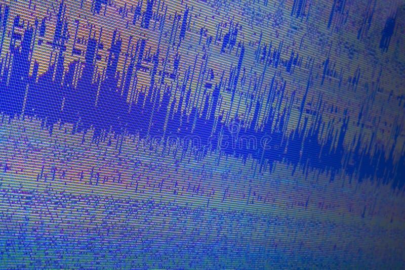 Η περίληψη αλλοίωσε το ψηφιακό αρχείο υπολογιστών με το υπόβαθρο εικονοκυττάρων οριζόντιων γραμμών στη χαμηλή υπαίθρια επίδειξη ψ στοκ φωτογραφίες