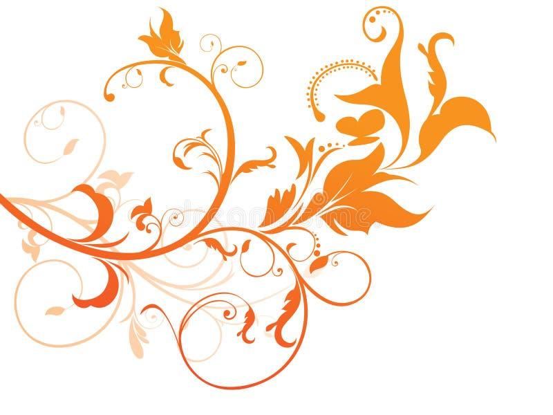 η περίληψη βάσισε το floral πορτοκάλι απεικόνιση αποθεμάτων