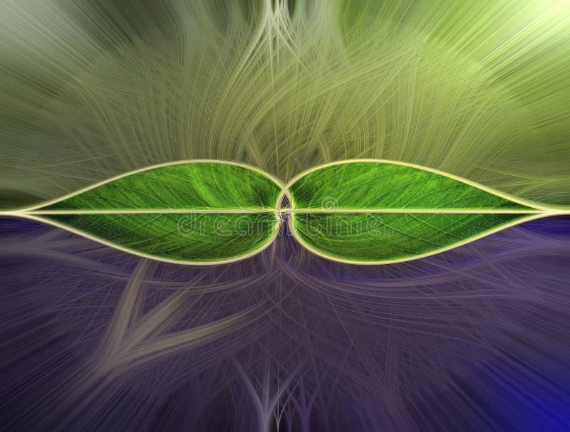 Η περίληψη βγάζει φύλλα με το σχέδιο γραμμών φωτός του ήλιου στοκ εικόνα