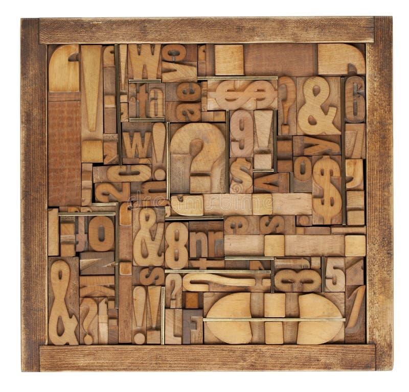 η περίληψη εμποδίζει letterpress τη&nu στοκ εικόνες