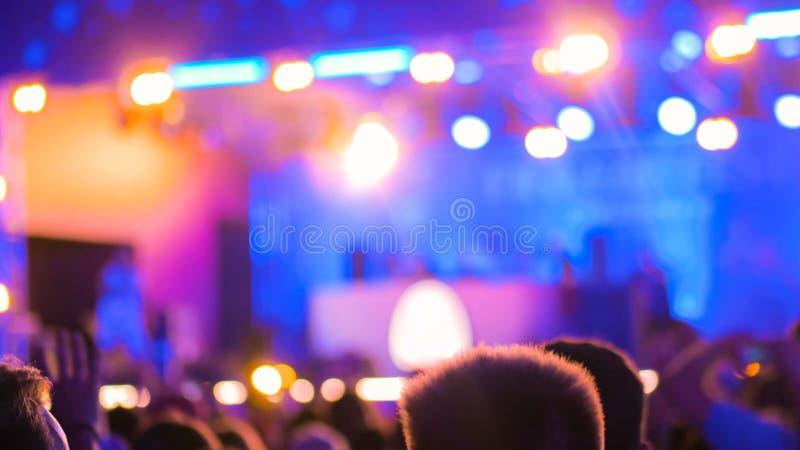 Η περίληψη το υπόβαθρο συναυλίας στοκ εικόνα