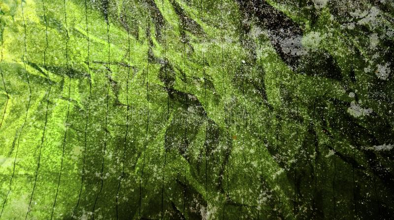 Η περίληψη τσαλάκωσε εγγράφου το μαύρο Αριανό πράσινο χρώματος υπόβαθρο σύστασης τοίχων αποτελεσμάτων χρωμάτων μιγμάτων πολυ στοκ φωτογραφία