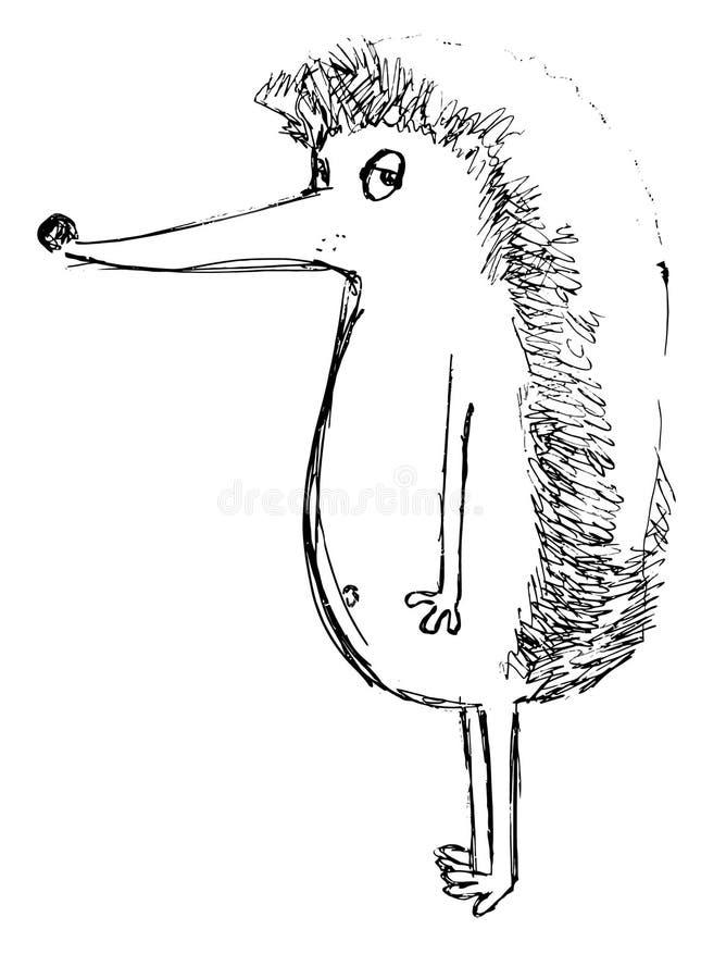 Η περίληψη ενός σκαντζόχοιρου σε ένα άσπρο υπόβαθρο στοκ φωτογραφία