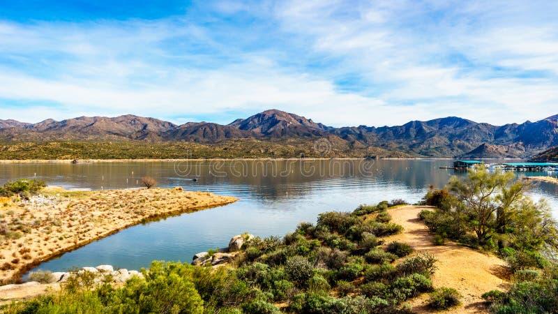 Η περιοχή μαρινών της λίμνης Bartlett στοκ εικόνα με δικαίωμα ελεύθερης χρήσης