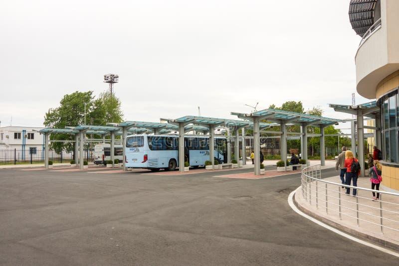 Η περιοχή προσγείωσης στο νότιο τερματικό λεωφορείων σε Burgas Βουλγαρία στοκ φωτογραφία