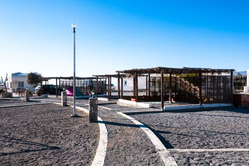 Η περιοχή στρατοπέδευσης και υπολοίπου σε Jebel υποκρίνεται το Ομάν στοκ εικόνα με δικαίωμα ελεύθερης χρήσης