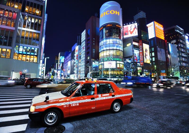Η περιοχή Ginza στοκ φωτογραφίες με δικαίωμα ελεύθερης χρήσης