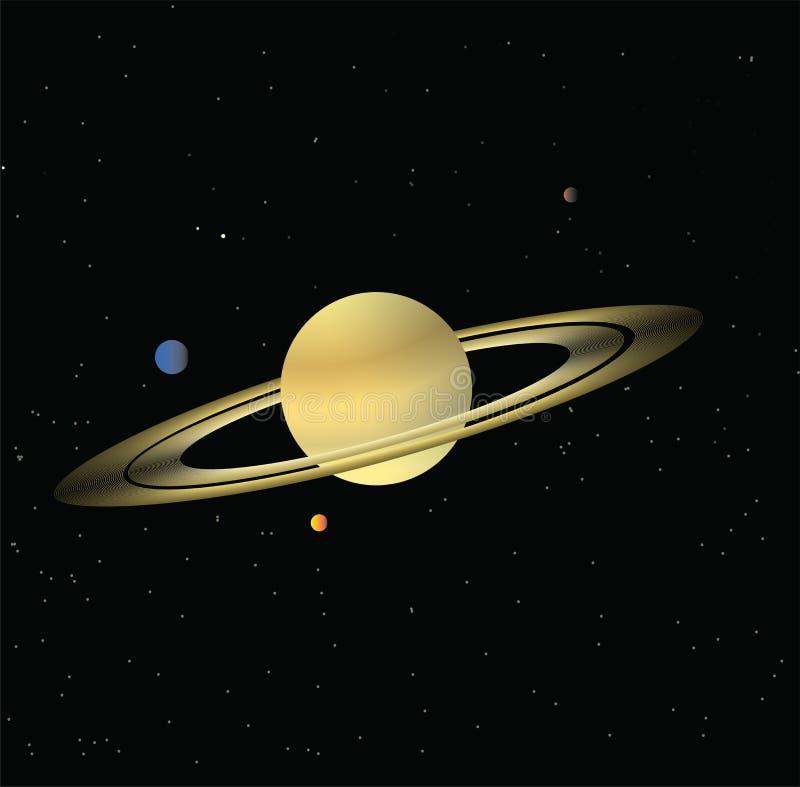 Η περισσότερη άποψη του πλανήτη του Κρόνου ελεύθερη απεικόνιση δικαιώματος