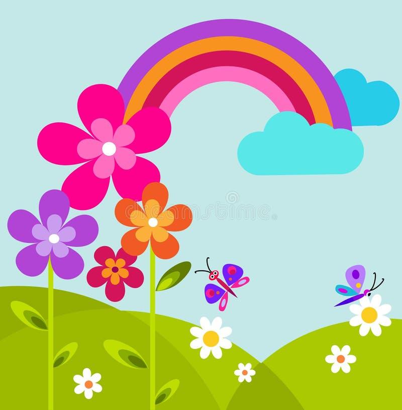 η πεταλούδα ανθίζει το πρά ελεύθερη απεικόνιση δικαιώματος