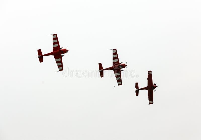 Η πετώντας επίδειξη και aerobatic παρουσιάζει σε Malopolski Piknik Lotniczy στοκ εικόνα με δικαίωμα ελεύθερης χρήσης