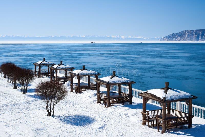 Η πηγή του ποταμού Angara από τη λίμνη Baikal στοκ φωτογραφία με δικαίωμα ελεύθερης χρήσης