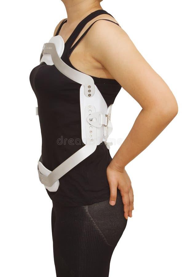 η πλάτη ενισχύει το οσφυικό truma σπασίματος jewet στοκ φωτογραφία