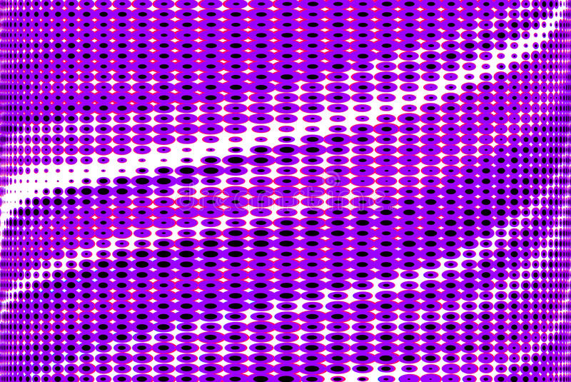 Η πορφυρή βιολέτα επισήμανε την οπτική παραίσθηση οράματος τρισδιάστατη διανυσματική απεικόνιση