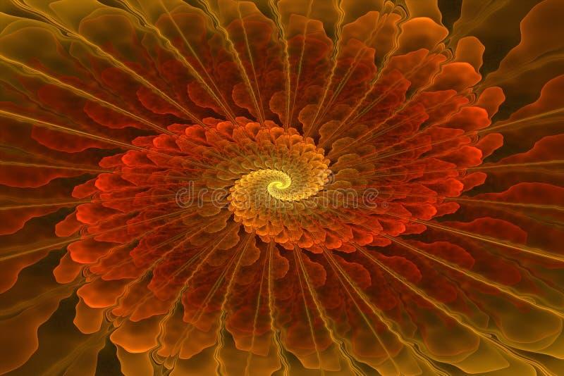 Η πολύχρωμη fractal σπείρα, στο χαρτοφυλάκιό μου είναι πολύ παρόμοιες εικόνες απεικόνιση αποθεμάτων