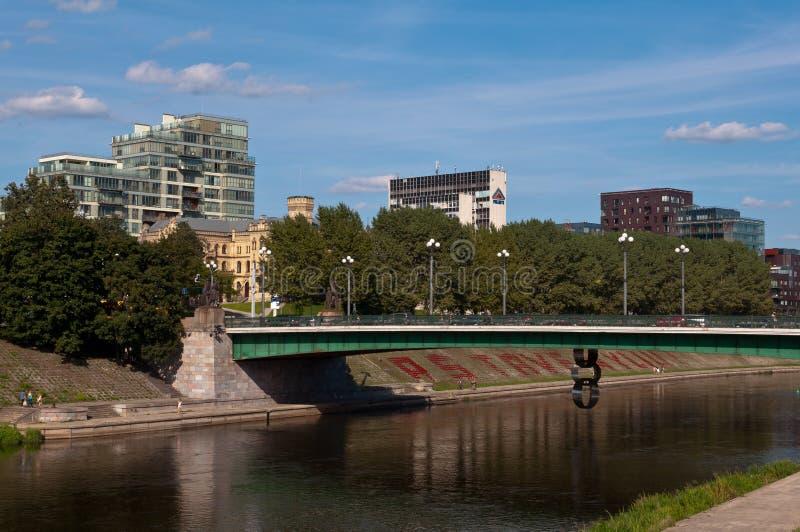 Η πράσινη γέφυρα σε Vilnius στοκ φωτογραφία με δικαίωμα ελεύθερης χρήσης