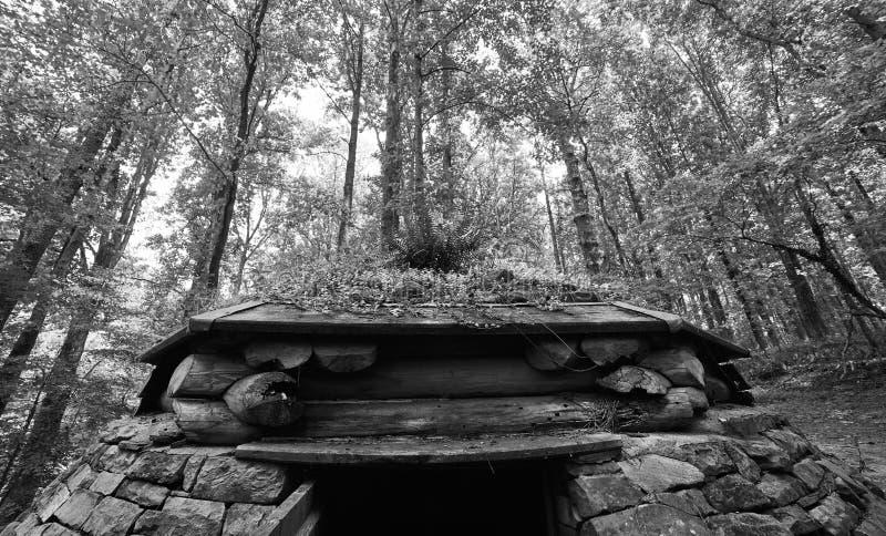 Η πράσινη στέγη ενός obscura καμερών στοκ φωτογραφίες