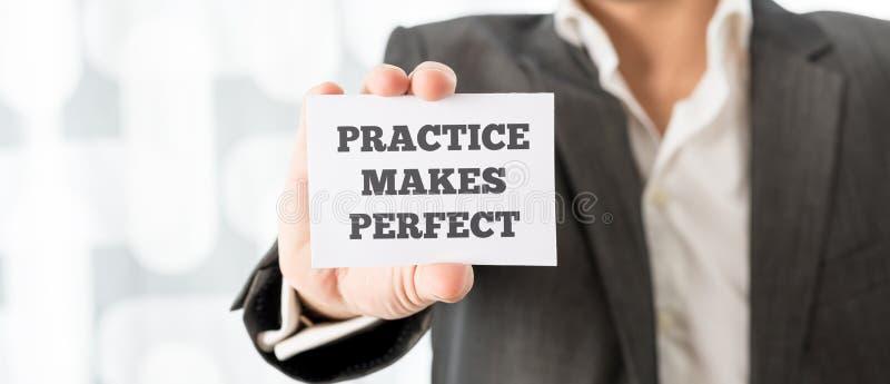 Η πρακτική κάνει τέλειος στοκ εικόνες