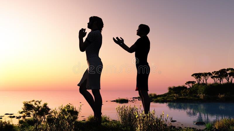 Η προσευχή ελεύθερη απεικόνιση δικαιώματος