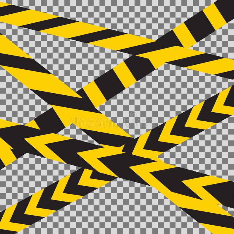 Η προσοχή που διασχίζεται δένει το διάνυσμα συνόρων με ταινία διανυσματική απεικόνιση