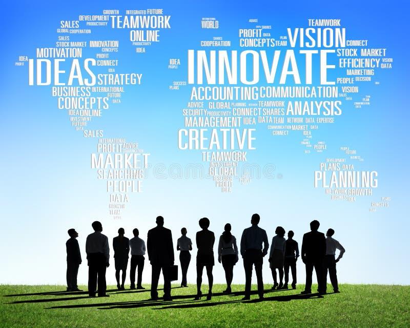 Η πρόοδος ιδεών δημιουργικότητας έμπνευσης καινοτομίας καινοτομεί στοκ φωτογραφίες