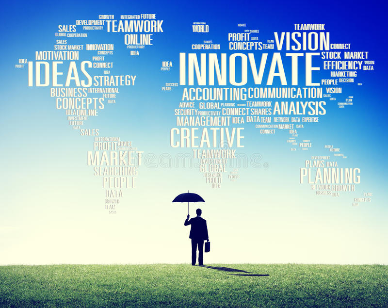 Η πρόοδος ιδεών δημιουργικότητας έμπνευσης καινοτομίας καινοτομεί Concep στοκ εικόνες