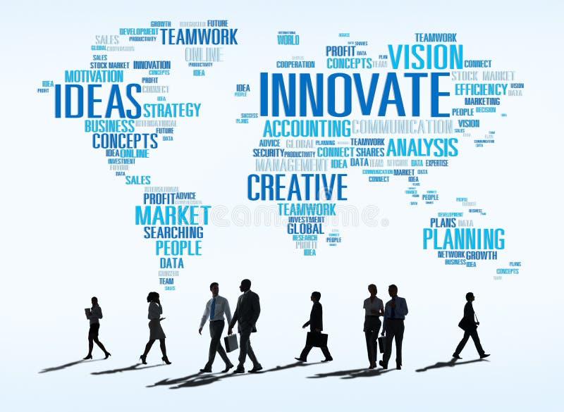Η πρόοδος ιδεών δημιουργικότητας έμπνευσης καινοτομίας καινοτομεί Concep στοκ εικόνες με δικαίωμα ελεύθερης χρήσης