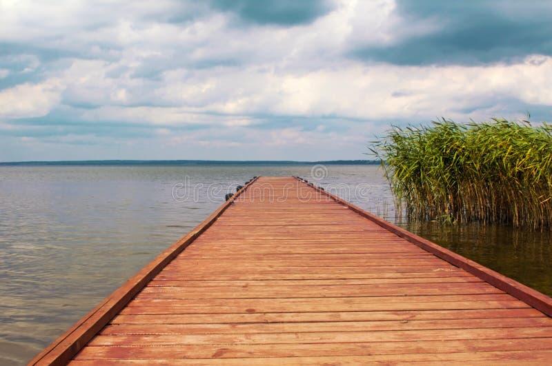 Η πρόσδεση στη λίμνη. στοκ εικόνες