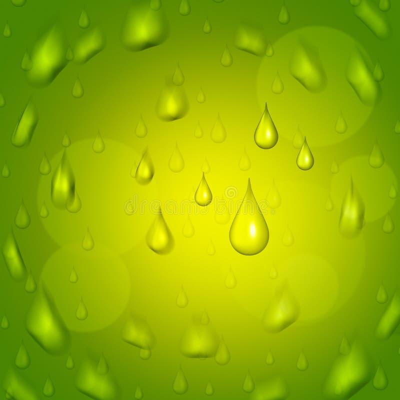Η πτώση βροχής αντιπροσωπεύει το ίζημα σταγονίδιων και πράσινος απεικόνιση αποθεμάτων