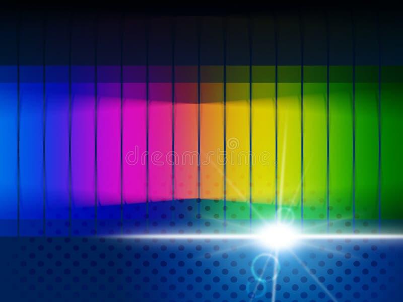 Η πυράκτωση χρώματος παρουσιάζει ορατό φάσμα και χρωματικός διανυσματική απεικόνιση