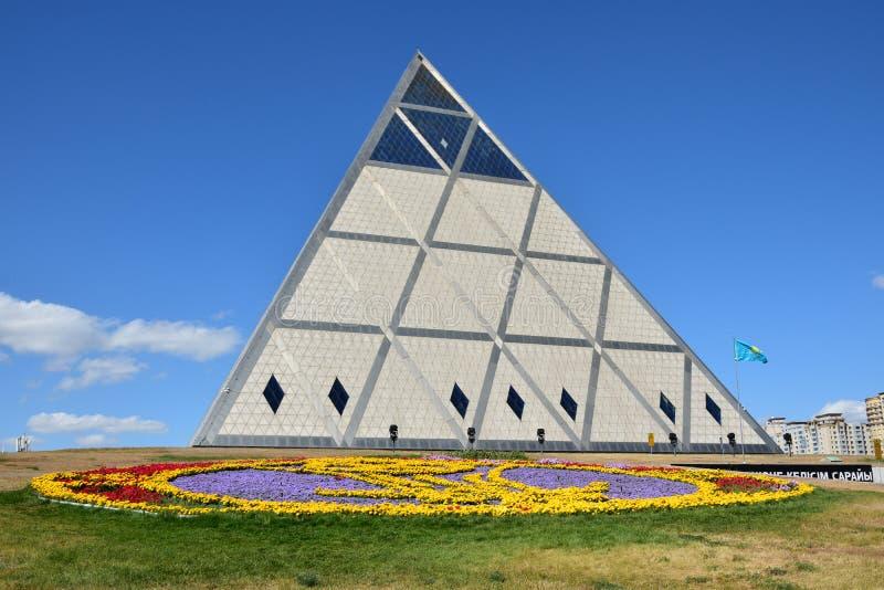 Η πυραμίδα σε Astana/το Καζακστάν στοκ φωτογραφία με δικαίωμα ελεύθερης χρήσης