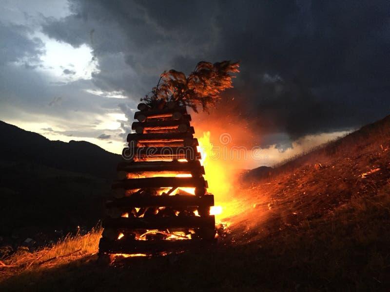 Η πυρκαγιά Martyr's στοκ φωτογραφίες με δικαίωμα ελεύθερης χρήσης