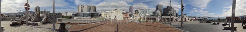 Η πόλη στη γέφυρα θάλασσας στο πολιτικό κέντρο του Ουέλλινγκτον στοκ εικόνες