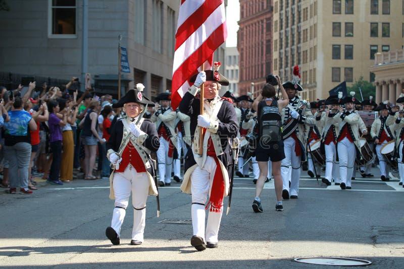 Η πόλη της λαβής εορτασμού ημέρας της ανεξαρτησίας της Βοστώνης σε 4ο του Ιουλίου του 2019 στη Βοστώνη στοκ εικόνες