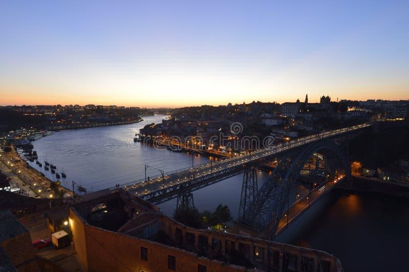 Η πόλη του Πόρτο στην Πορτογαλία στοκ εικόνες