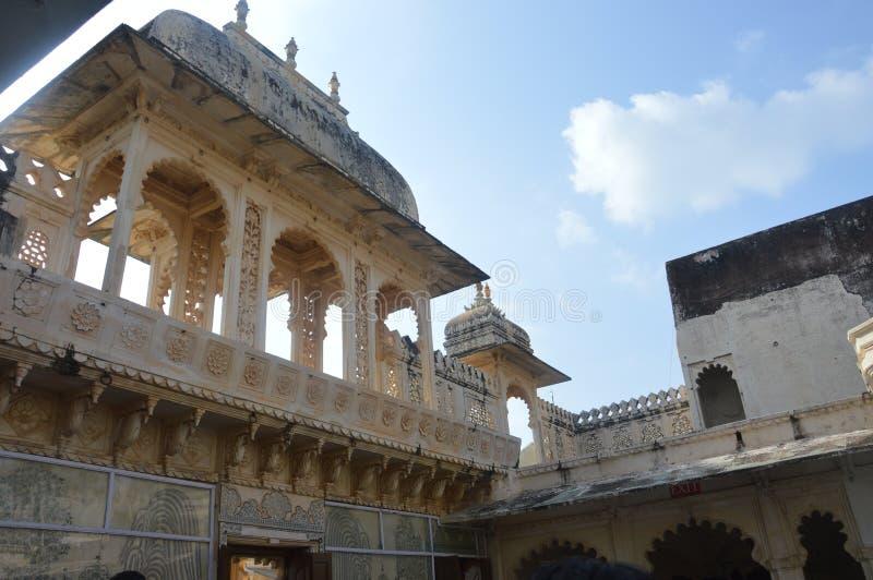 Η πόλη των λιμνών Udaipur, παλάτι πόλεων, κτήριο κληρονομιάς, μεγάλη ιστορία, δυναστεία Mewar, βασιλική οικογένεια στοκ φωτογραφίες