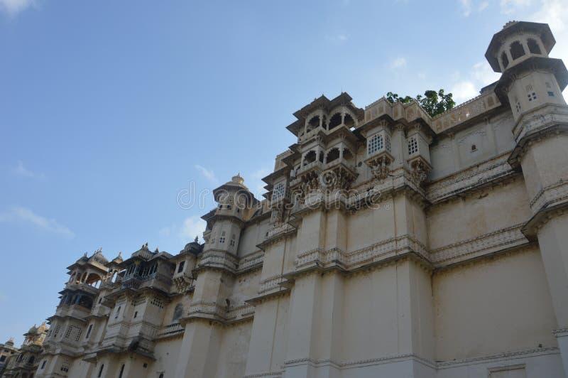 Η πόλη των λιμνών Udaipur, παλάτι πόλεων, κτήριο κληρονομιάς, μεγάλη ιστορία, δυναστεία Mewar, βασιλική οικογένεια στοκ φωτογραφία με δικαίωμα ελεύθερης χρήσης