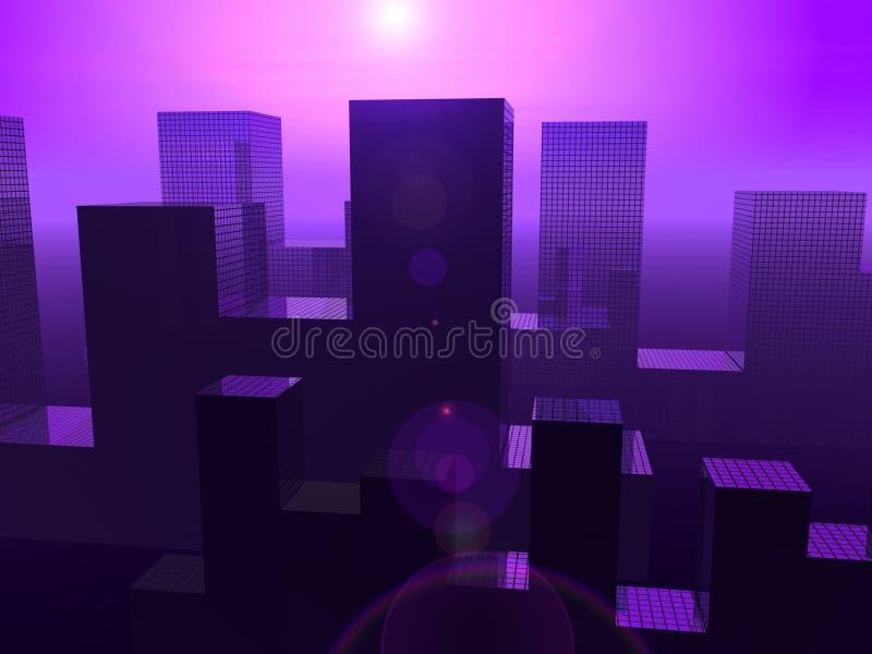 Η πόλη 17 διανυσματική απεικόνιση