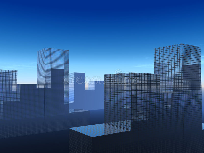 Η πόλη 25 ελεύθερη απεικόνιση δικαιώματος