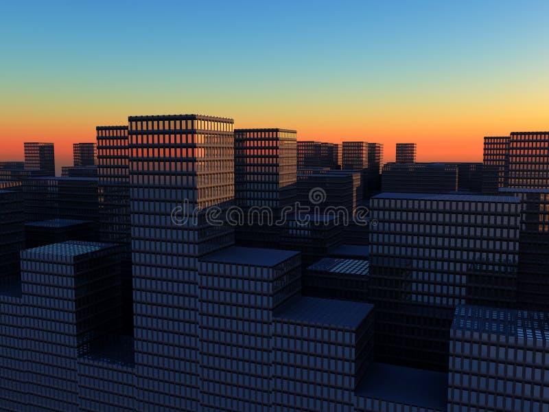 Η πόλη 3 ελεύθερη απεικόνιση δικαιώματος