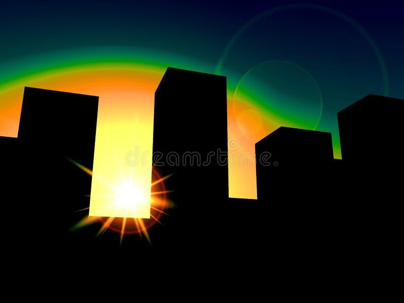 Η πόλη 4 διανυσματική απεικόνιση