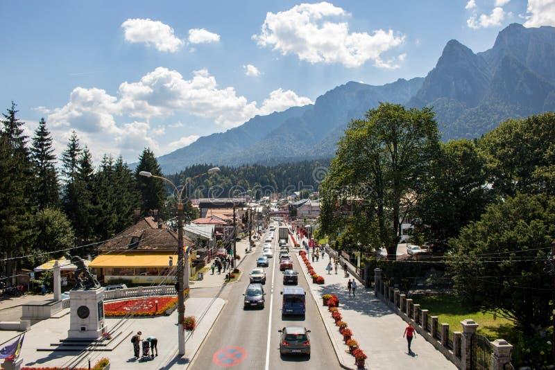 Η πόλη Busteni, Ρουμανία στοκ εικόνες