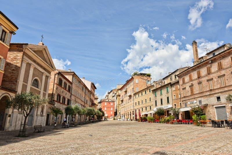 Η πόλη Macerata στην περιοχή του Marche στοκ εικόνα με δικαίωμα ελεύθερης χρήσης