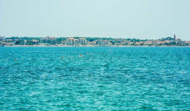 Η πόλη NA Moru Biograd, Κροατία στοκ φωτογραφία