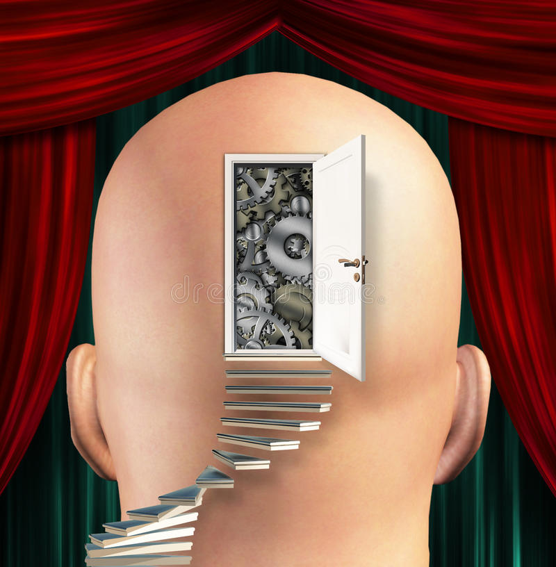 Η πόρτα ανοίγει στο μυαλό ελεύθερη απεικόνιση δικαιώματος