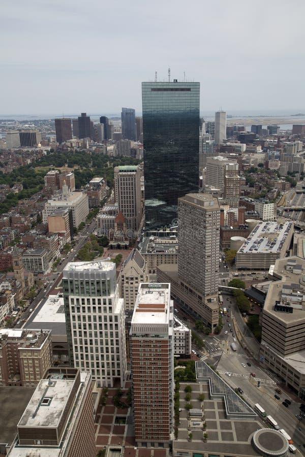 Η πόλη Βοστώνη έχει δει από τη γέφυρα παρατήρησης στοκ φωτογραφία