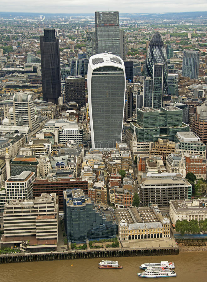 Η πόλη του Λονδίνου από το Shard στοκ φωτογραφία