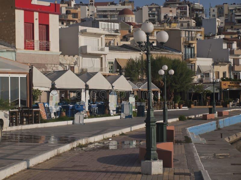 Η πόλη των απόψεων αποβαθρών της Σητείας στοκ εικόνα με δικαίωμα ελεύθερης χρήσης