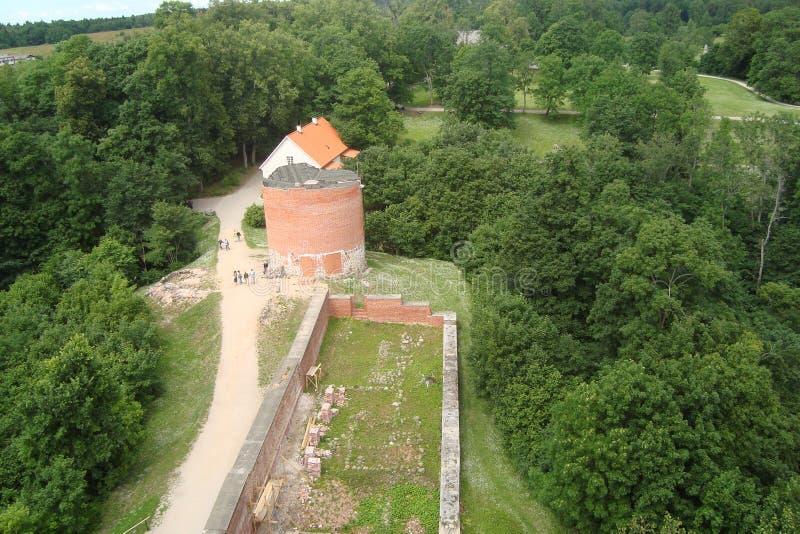 Η πόλη Sigulda της αρχιτεκτονικής της Λετονίας στοκ εικόνες