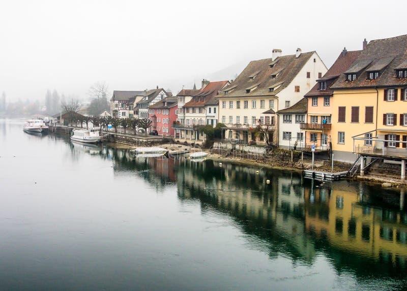 Η πόλη Stein AM Ρήνος, Ελβετία στοκ εικόνες