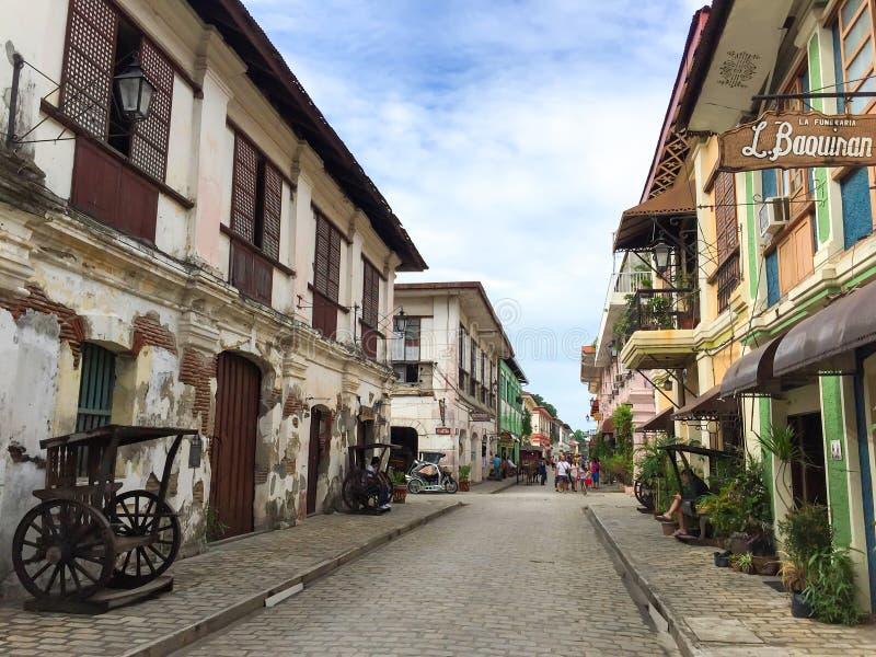Η πόλη Vigan στοκ εικόνα